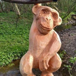 Ape Treskulptur