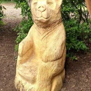 Bjørne-stol Treskulptur
