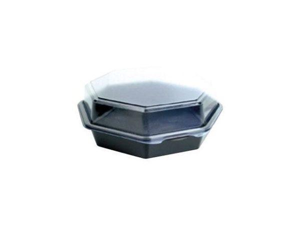 Plastbeger DUNI 23x23x8cm sort (180)