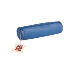 Pennal AGE BAG Ø6x21 cm skinn blå
