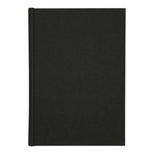 Skrivebok BURDE A4 ulinjert sort
