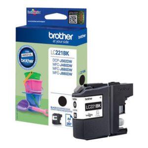 Blekk BROTHER LC221BK sort