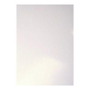Omslag ringinnbinding glanset hvit (100