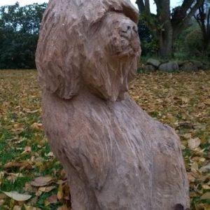 Hund Treskulptur