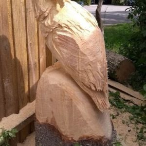 Ørn Treskulptur