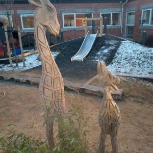 Sjiraff Treskulptur