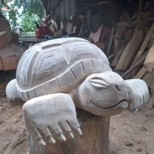 Skilpadde Treskulptur