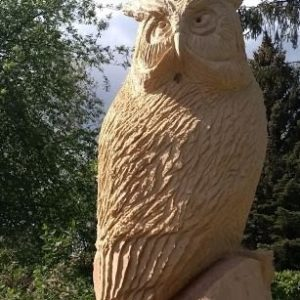 Ugle stor Treskulptur