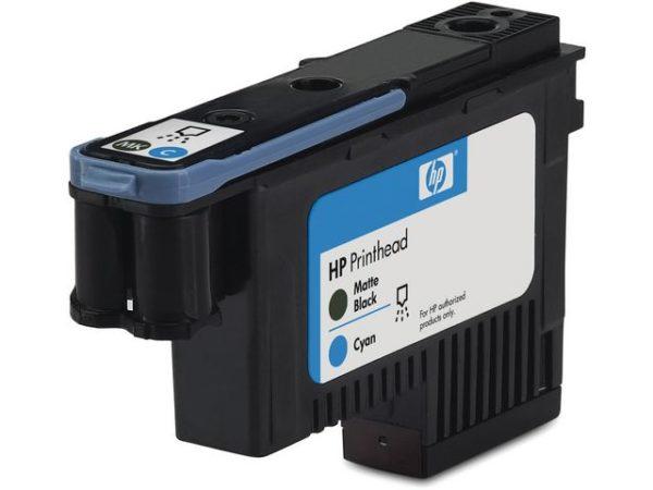 Skrivehode HP C9404A matt sort + blå