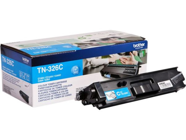 Toner BROTHER TN326C high capacity blå