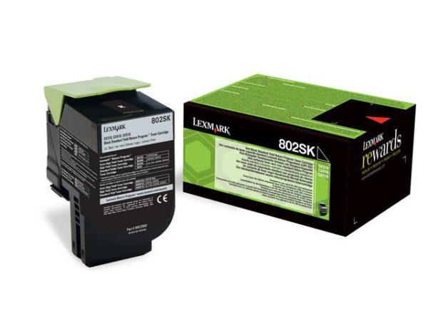 Toner LEXMARK PB 80C2SK0 sort