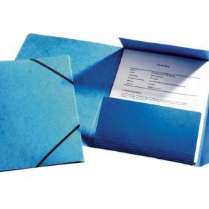 Strikkmappe ESSELTE 3kl Kartong A4 Blå