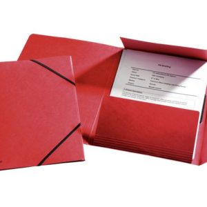 Strikkmappe ESSELTE 3kl Kartong A4 Rød