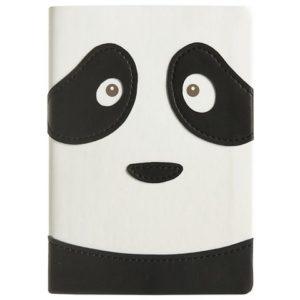 Notatbok Panda A6 Linjer Sort/Hvit