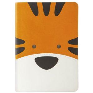 Notatbok Tiger A6 Linjer Orange/Hvit