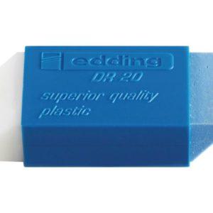 Viskelær EDDING DR20 plast hvit/blå