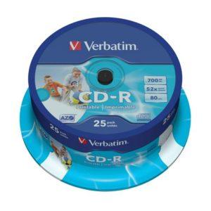 CD-R VERBATIM 700MB 52X print spind (25