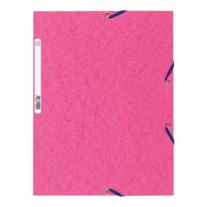 Strikkmappe EXACOMPTA A4 3 kl 400g rosa