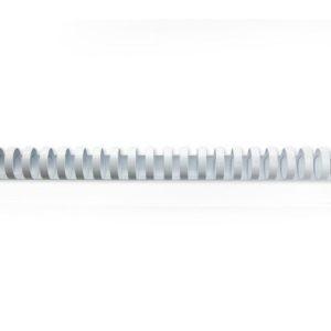 Plastspiral GBC 16mm 21 ringer hvit(100