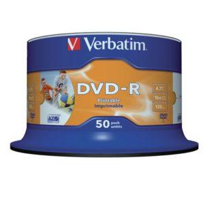 DVD-R VERBATIM 4.7GB 16X Print Spin (50