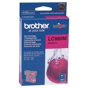 Blekk BROTHER LC980M rød