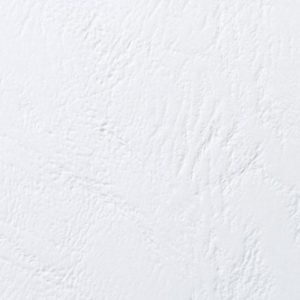 Omslag ringinnb GBC lærstrukt hvit (100