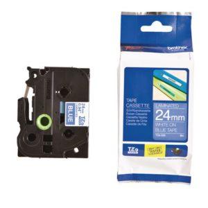 Tape BROTHER TZe-555 24mm hvit/blå