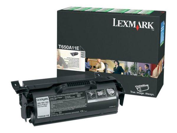 Toner LEXMARK T650A11E 7K sort