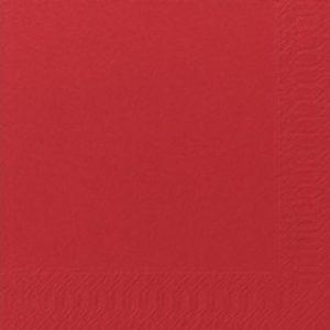 Serviett DUNI 3L 33cm rød (125)