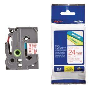 Tape BROTHER TZe-252 24mmx8m rød/hvit