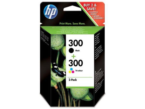 Blekk HP 300 CN637EE sort + frg
