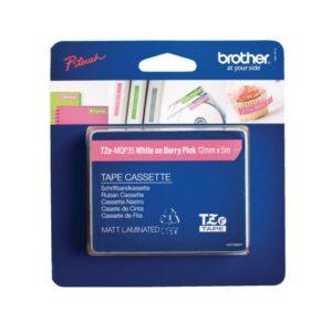 Tape BROTHER TZe-MQP35 12mmx5m hvit/ros