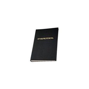 Styreprotokoll med trykk 120 blad sort