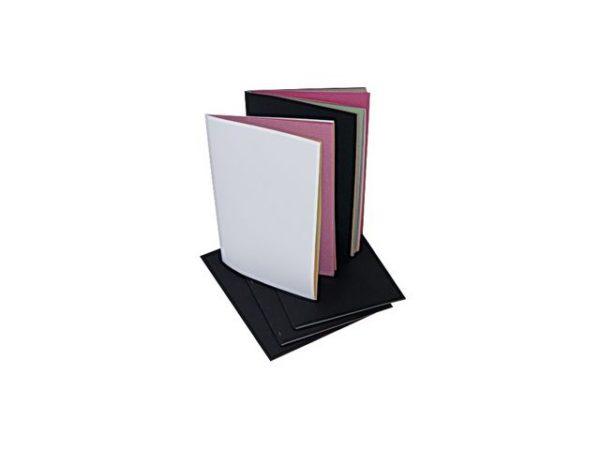 Collagebok A4 sort 20 blad 10 farger (5