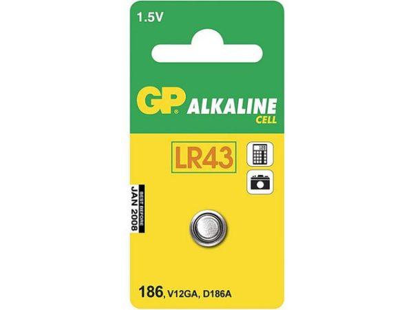 Batteri GP 186-C1/LR43/LR1142