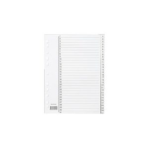 Register A4 PP 1-31 m/indeksark hvit