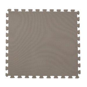 Gulv-/lekematte 60x60cm grå