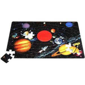 Puslespill gulv solsystemet
