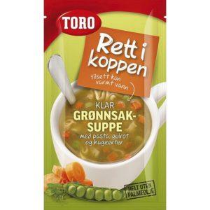 Grønnsaksuppe RIK m/pasta
