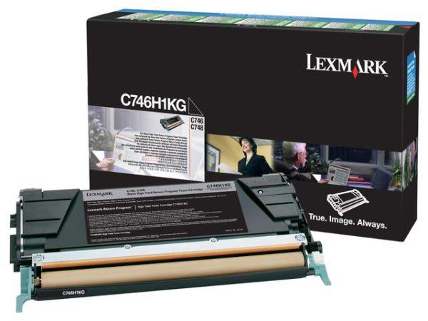 Toner LEXMARK C746H1KG 12K sort
