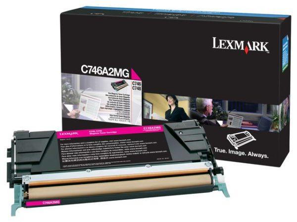 Toner LEXMARK C746A1MG 7K rød