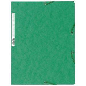 Strikkmappe EXACOMPTA A4 3 kl 400g grøn