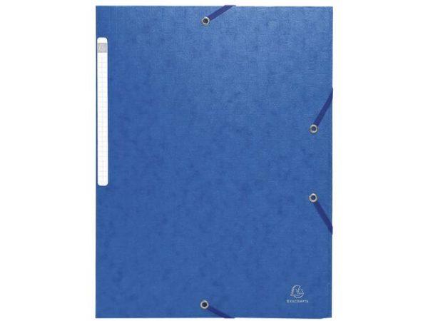 Strikkmappe EXACOMPTA A4 3 kl 600g blå