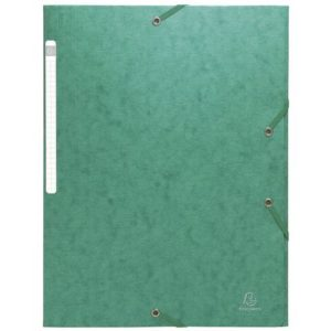 Strikkmappe EXACOMPTA A4 3 kl 600g grøn