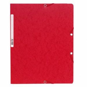 Strikkmappe EXACOMPTA A4 u/kl 400g rød