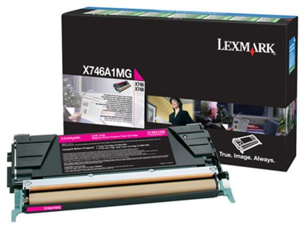 Toner LEXMARK X746A1MG 7K rød