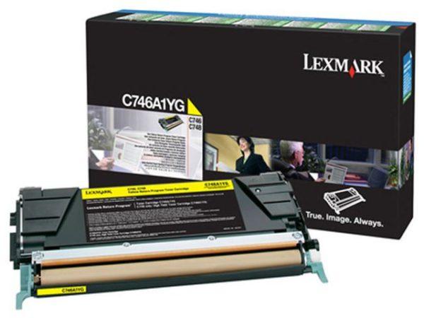 Toner LEXMARK C746A1YG 7K gul