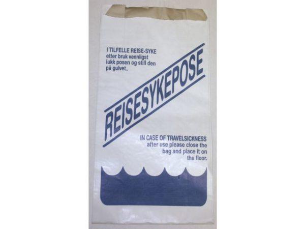 Reisesykepose m/trykk hvit (1000)