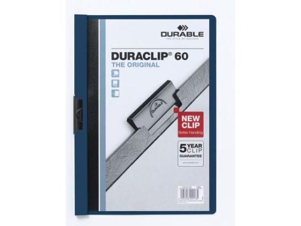 Klemmappe DURACLIP A4 60 ark blå