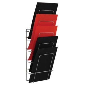 Brosjyrestativ 5 hyller A4 veggmodell